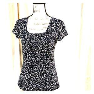 Ann Taylor LOFT petal print blouse-medium